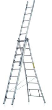 Aluminium Combination Ladder 3-part JUST Leitern & Gerüste Type R-500